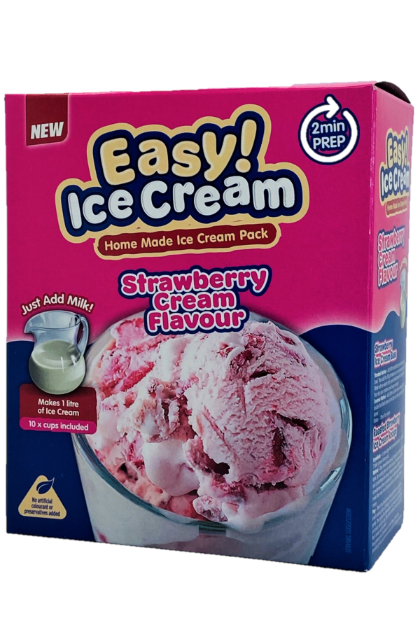 Easy Ice cream Strawberry - Home made ice cream pack - full case x 24 boxes