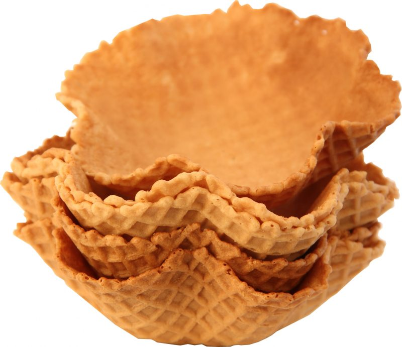 Catering Wafer Baskets Medium size 200 per case