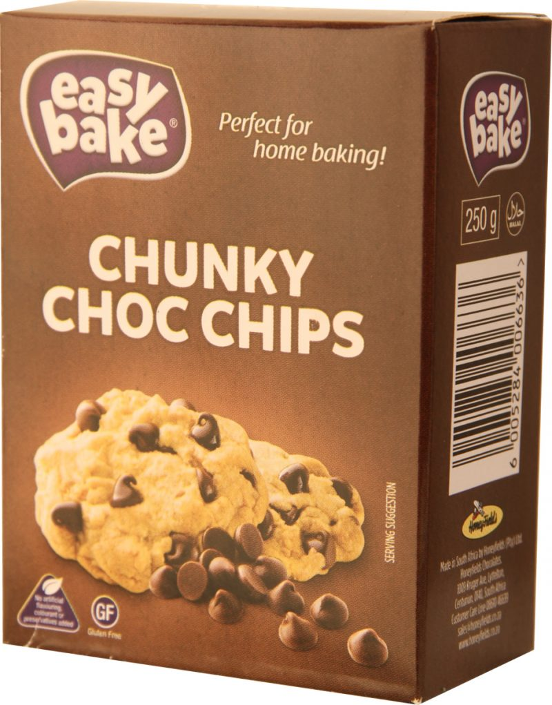 Chunky Chocolate Chips 250g x 12 per case