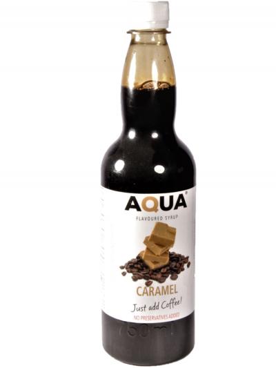 Aqua Caramel Coffee Flavouring syrup 750 ml X 6 bottles per case