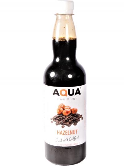 Aqua Hazelnut Coffee Flavouring syrup 750 ml X 6 bottles per case