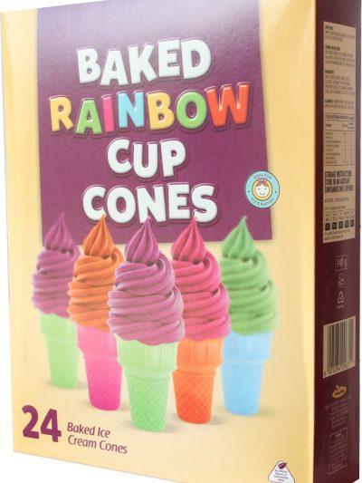 Baked Rainbow cups