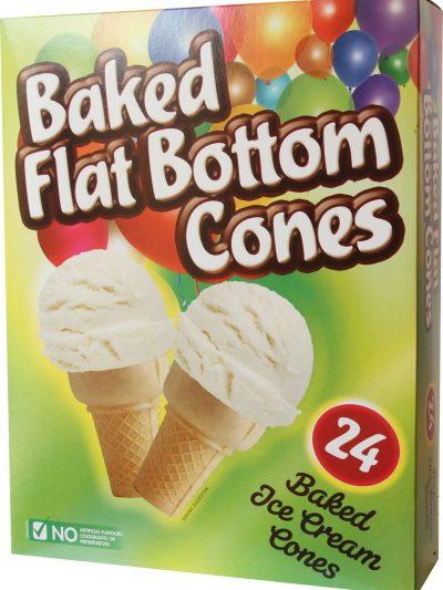 Baked Flat bottom cones