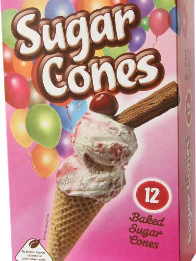 Sugar cones pack of 12' x 1 single box