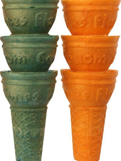 Catering Rainbow Flatbottom cones x 500