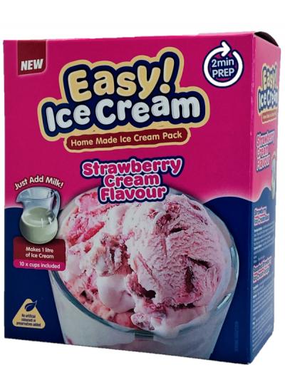Easy Ice cream Strawberry - Home made ice cream pack - single
